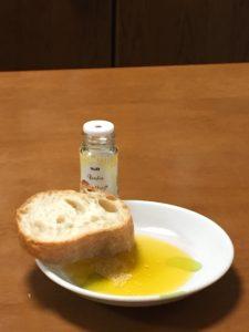 オーリオピッカンテ&ガーリックパウダー&フランスパン