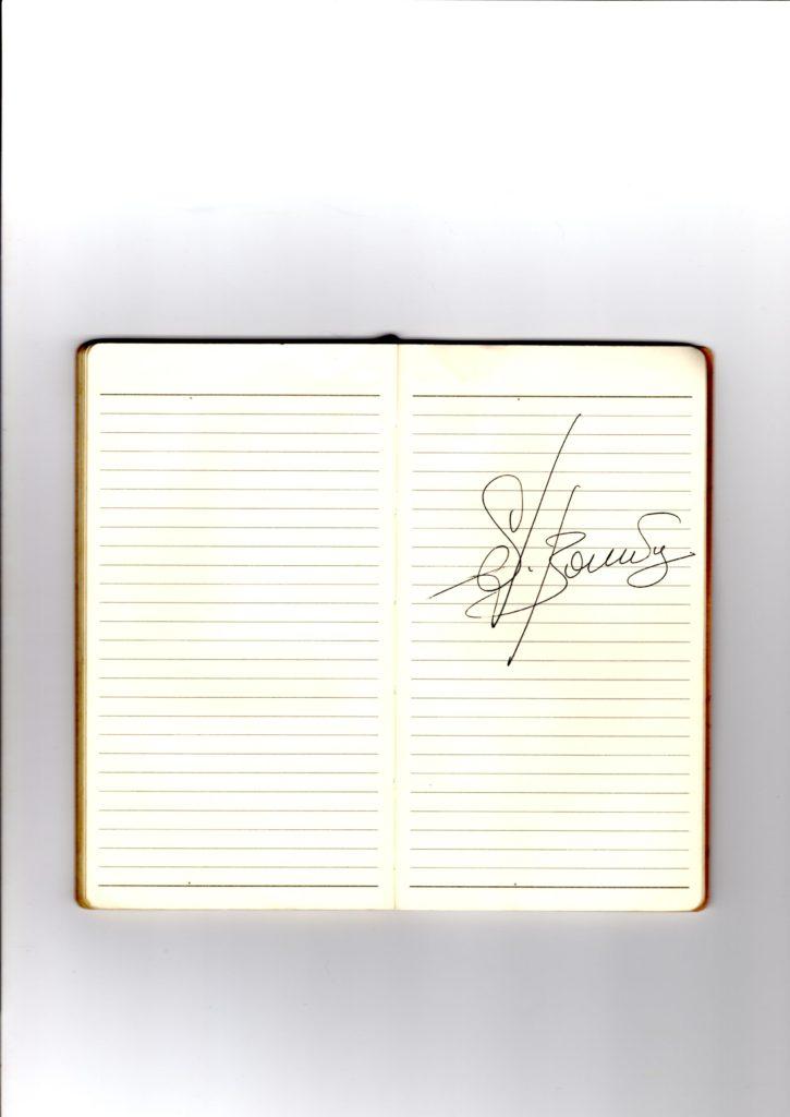 ブーニンのサイン